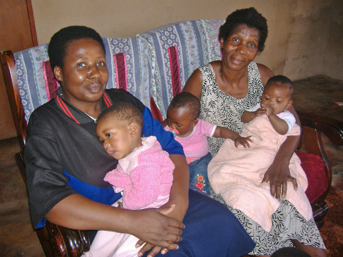 """Gogos (grandmothers) in Sabie, South Africa have been thrust back into the role of parenting as a result of the HIV/AIDS pandemic which has ravaged the middle generation and left over two million orphans"""