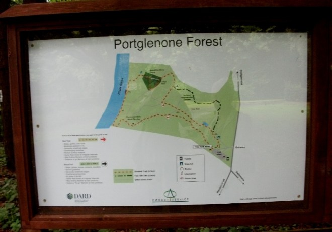 Map of Portglenone Forest