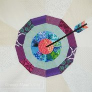 Patchwork bullseye by Granny Maud's Girl