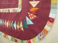 Flying geese patchwork quilt border