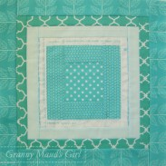 I love the cheerful aqua of this block for Helen.