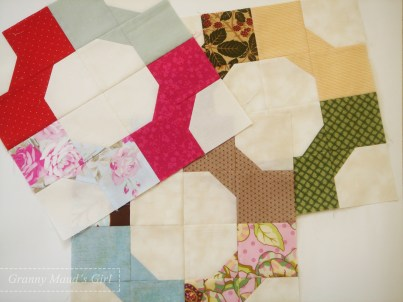 Bowtie scrappy patchwork blocks