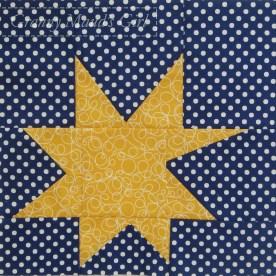 Wonky star patchwork block