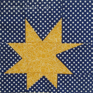 Wonky star patchwork block