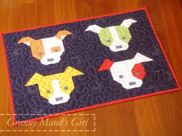 Dog Gone Cute pattern made up into a humidicrib cover