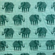Boat (yacht) quilt block back with elephants