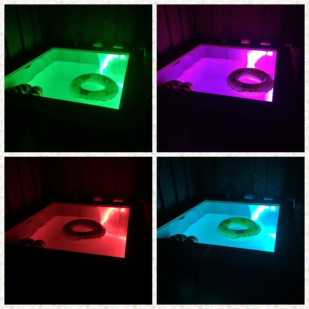 Licht Mini-Pool aus IBC Tank im Landhausstil