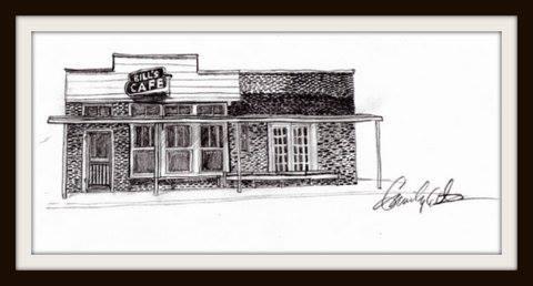 bill's cafe drawing