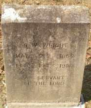 George Washington Wright's Headstone