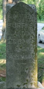 Headstone of Horton Burris