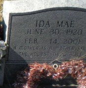 floyd and Mae's headstone