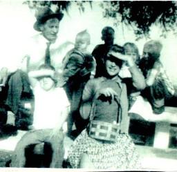 Easter Egg Hunting - (from left to right) Floyd B., Eugene, Linda, Bill, Sharron, Brenda, & Russell