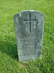 maryann henrietta belgard deville headstone