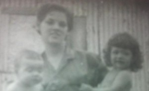 Rosa Lee Burris with children Alton Bateman and Tammy