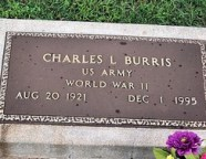 Charles L Burris tombstone
