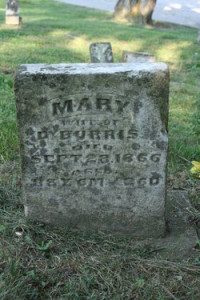 Headstone of Mary Horton Burris
