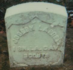 Joseph LaPrarie's Headstone*