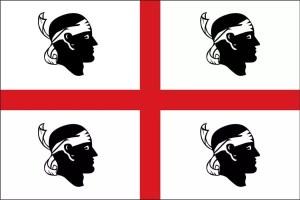Foto vlag Sardinie
