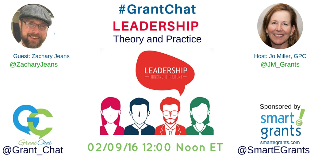 Grantchat Question Preview: Leadership Theory and Practice with Zachary Jeans