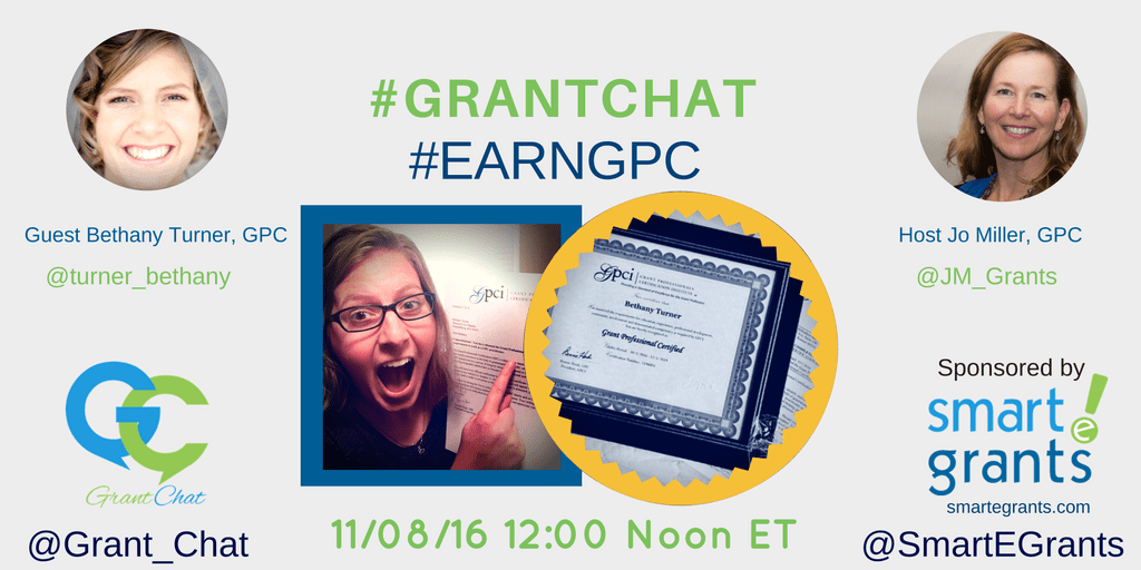 #earngpc Grant Professional Certified Bethany Turner, GPC