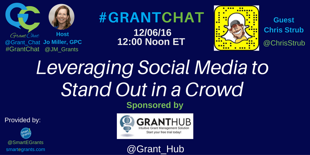 Chris Strub on GrantChat Using Social Media - Sponsored by GrantHub