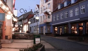 Evening in Sonderborg, Southern Denmark. Toned image