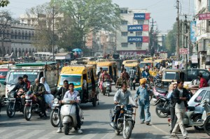 traffic new dehli