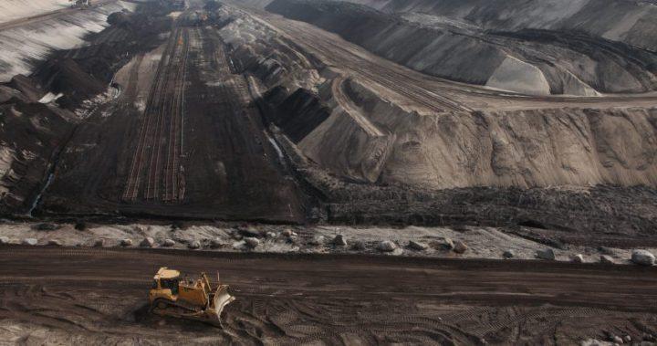 Open-pit coal mining near Cottbus, Brandenburg, Germany.