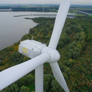 Wind turbine in the netherlands