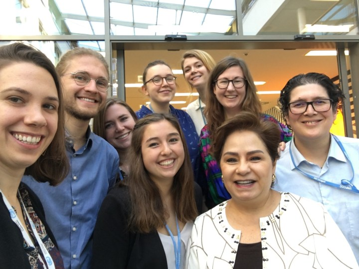 Goodwin Gibbins with Patricia Espinosa and colleagues
