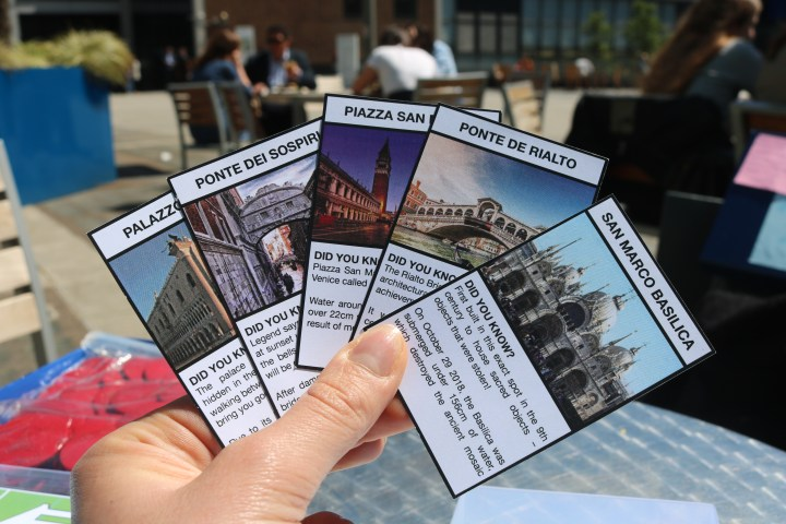 Venice: The Adaptation Game - a close up of a hand of cards used in the game