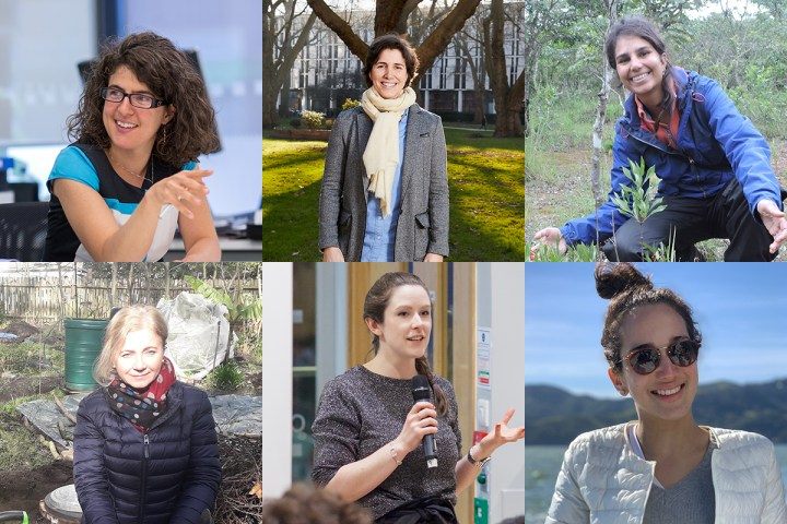 Composite image showing the photos off all the women mentioned in the following blog