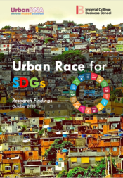 "Cover of the report ""Urban race for SDGs"""