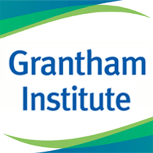 Grantham Institute Logo (Blue, green and lime green)