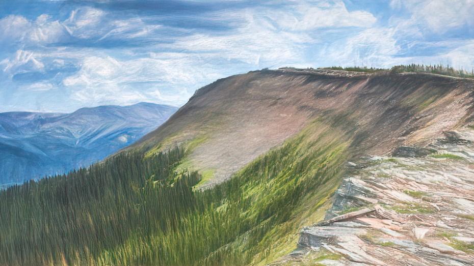 A cool ridge to walk along.