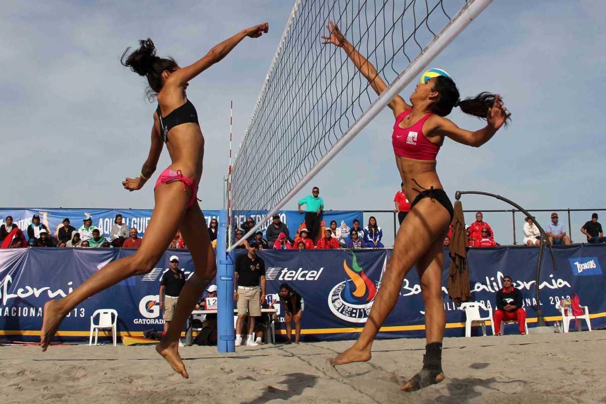 Los mejores jugadores de voleibol de playa en México.
