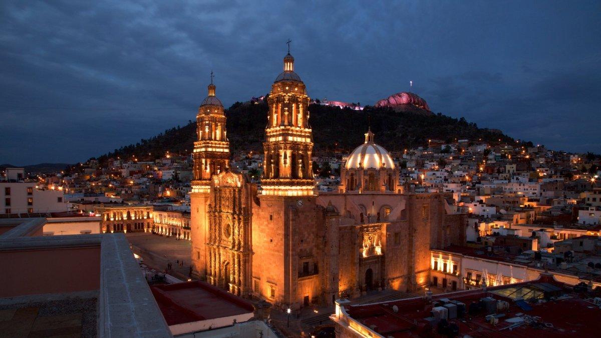 Catedral de Zacatecas por la noche