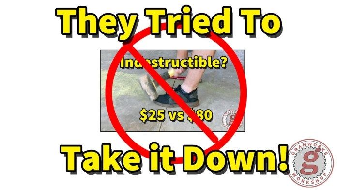 """""""Indestructible Shoes"""" Tried to Take Down My Video!"""