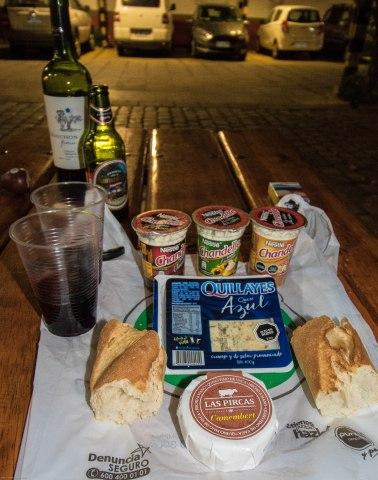 Evening meal in Santa cruz