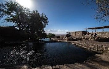 Natural swimming pool above Peine