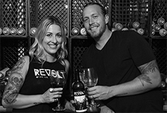 Heather and Steve Hudson of the REVOLT Wine Co.