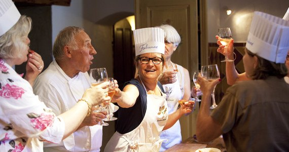 hostellerie berard et spa-lecon de cuisine (have a drink with Chef Bérard during cooking course)