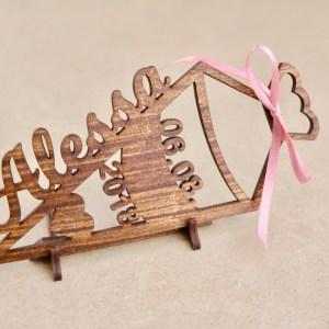 Bestseller Geschenk zur Einschulung aus Holz mit Herz