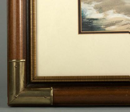 Frame corner profile view