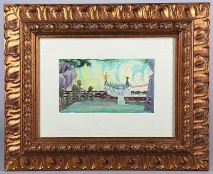 Framed view in ornate detailed frame