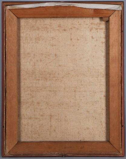 Verso view of original frame