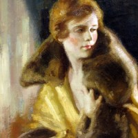 Flapper Girl In Mink Stole