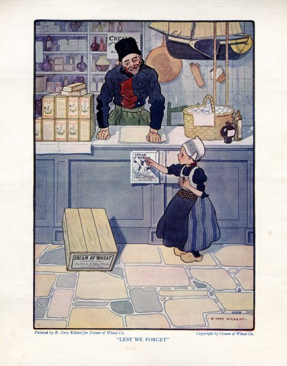 1922 back cover of Needlecraft Magazine with Lest We Forget included in sale