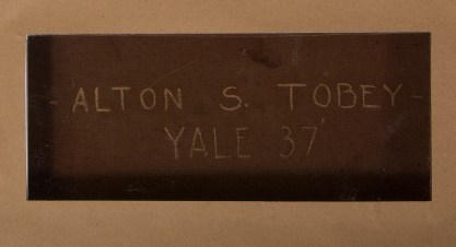 Verso notation and date of 1937