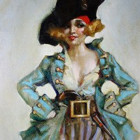 An Art Deco Pirate Girl